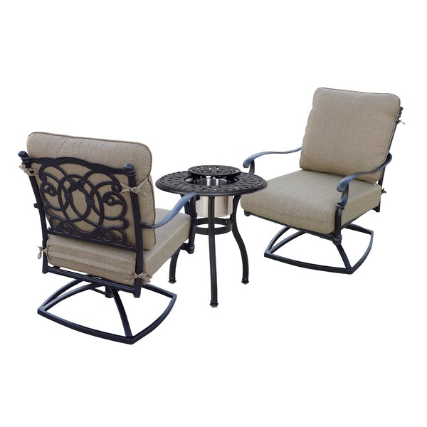 Battista 3 Piece Seating Group with Cushions by Fleur De Lis Living