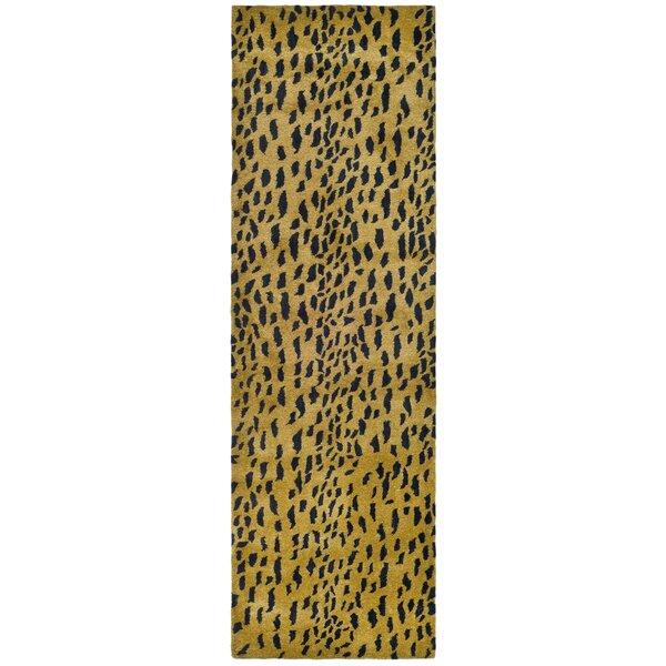 Dorthy Yellow/Black Area Rug by Bloomsbury Market