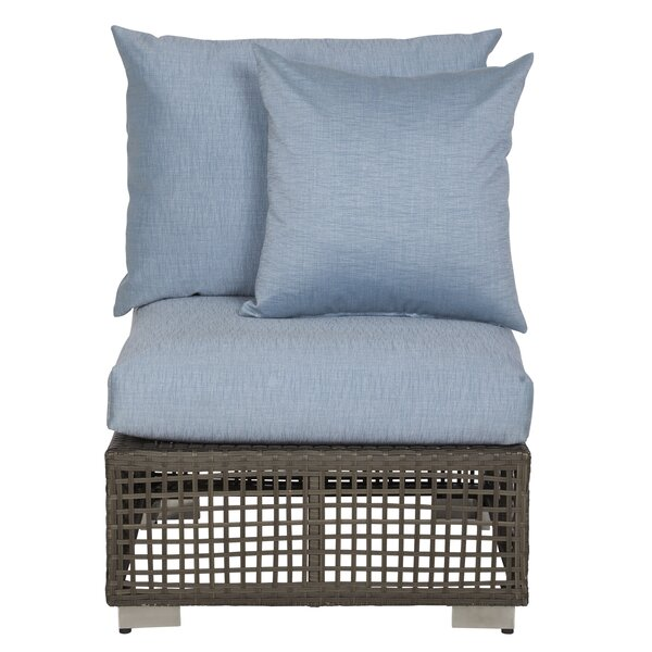 Mcmanis Outdoor Open Weave Rattan Patio Chair with Cushion by Ivy Bronx