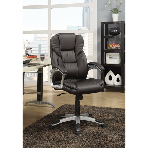 Lansdown High-Back Leather Executive Chair by Symple Stuff