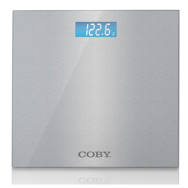 Brushed Metal Bathroom Digital Scale by COBY