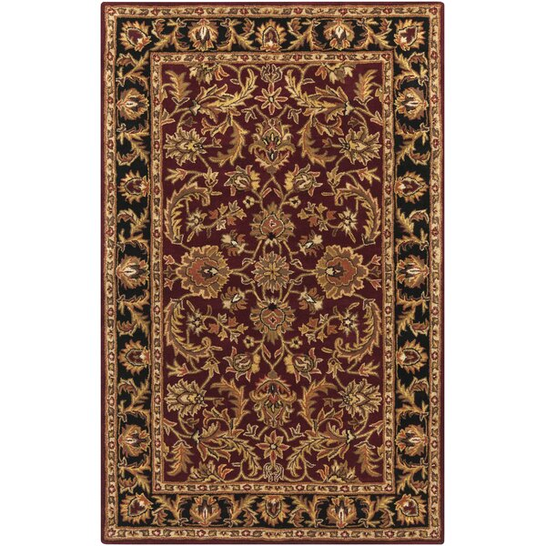 Plemmons Red Area Rug by Three Posts