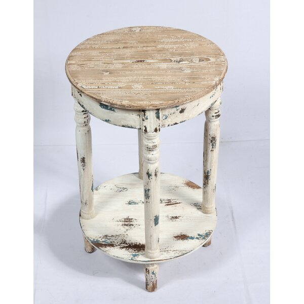 Ratliff Weathered Wood End Table by August Grove
