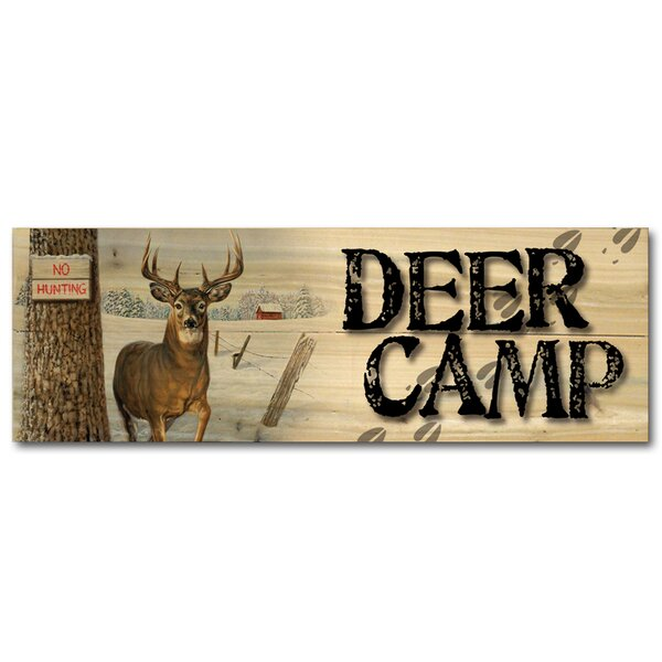 Deer Camp No Hunting Graphic Art Plaque by WGI-GALLERY