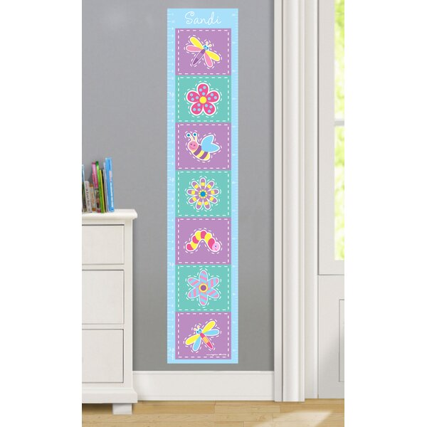 Flower Land Personalized Peel and Stick Growth Chart by Olive Kids