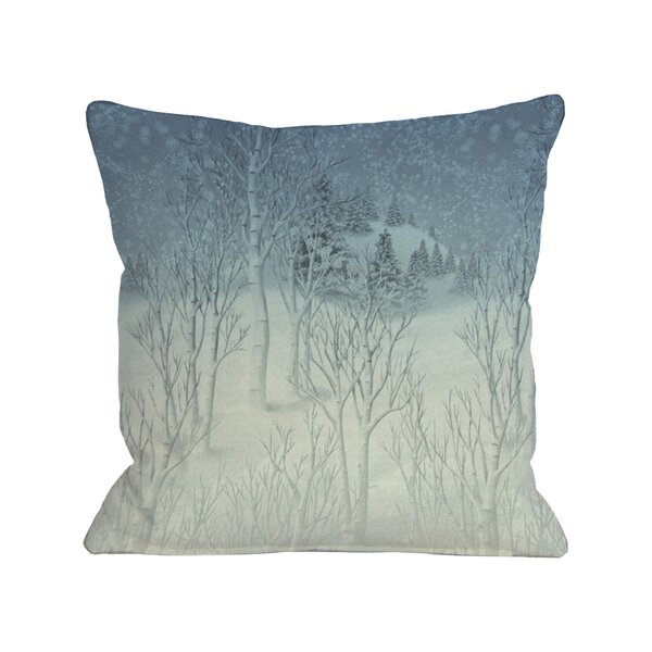 Winter Woods Throw Pillow by One Bella Casa