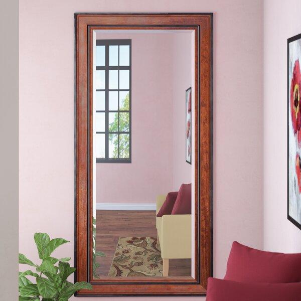 Aislin Rustic Pine Beveled Wall Mirror