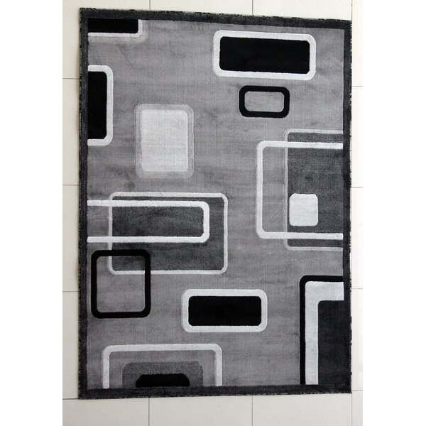 Hedrick Dark Gray Area Rug by Ebern Designs