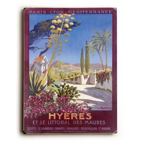 Hyeres French Riviera Beach Resort Vintage Advertisement by Artehouse LLC