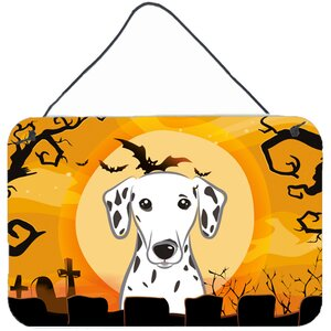Halloween Graphic Art on Plaque by Caroline's Treasures