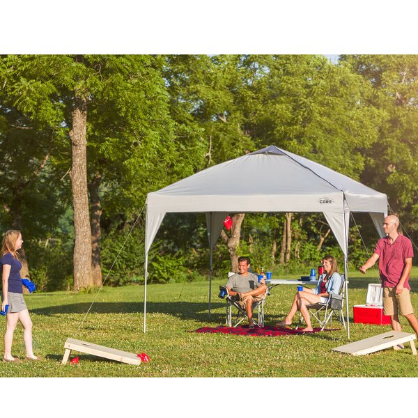 10 Ft. W x 10 Ft. D Steel Pop-Up Canopy by Core Equipment