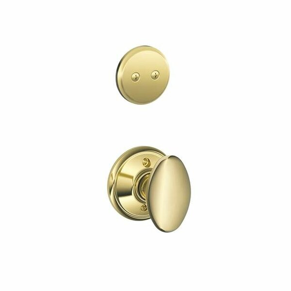 Interior Non-Turning Siena Knob and Interior Inactive Deadbolt Thumbturn by Schlage