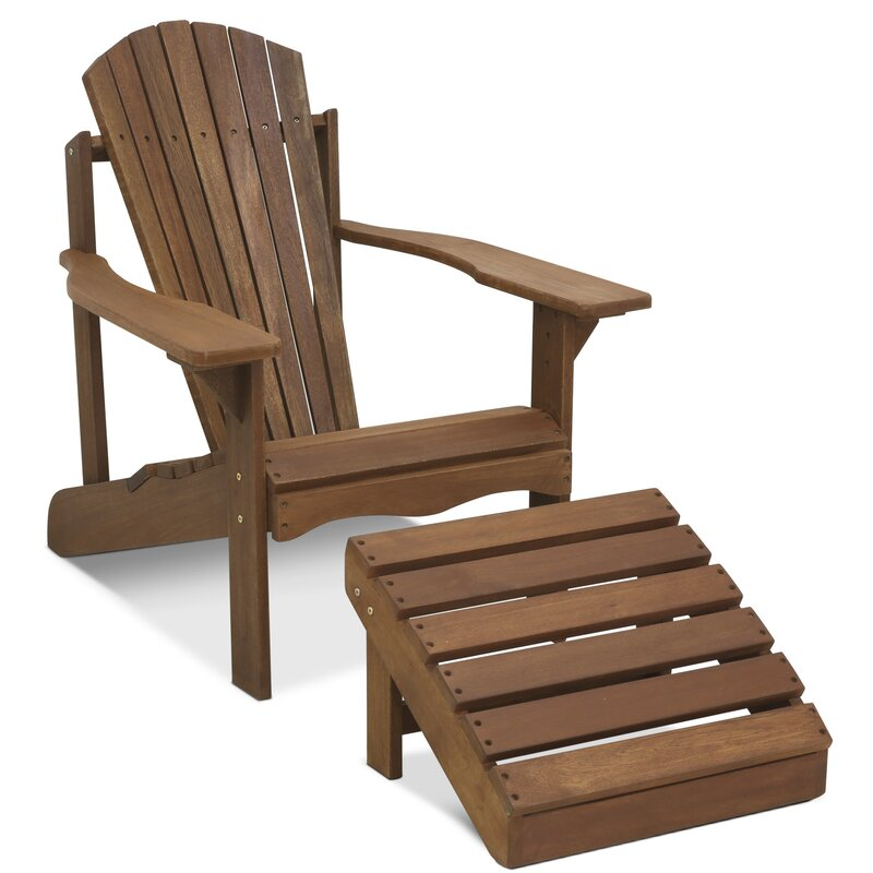 Arianna Solid Wood Adirondack Chair