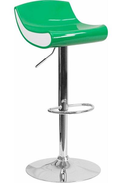 Whelan Adjustable Height Swivel Bar Stool by Orren Ellis