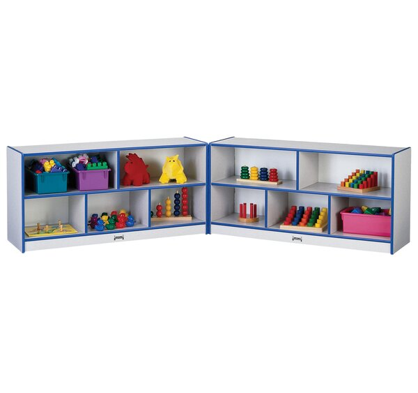 Rainbow Accents® Folding 10 Compartment Shelving Unit with Casters by Jonti-Craft