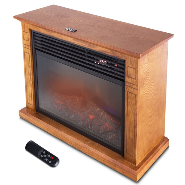 1500 Watt Deluxe Infrared Quartz Heater Flame Wood Log Caster Cabinet by Della