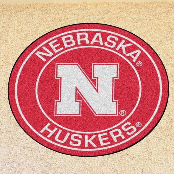 NCAA University of Nebraska Roundel Mat by FANMATS