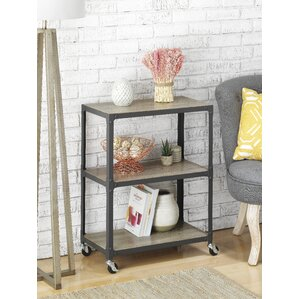 3 shelf metal rolling utility cart