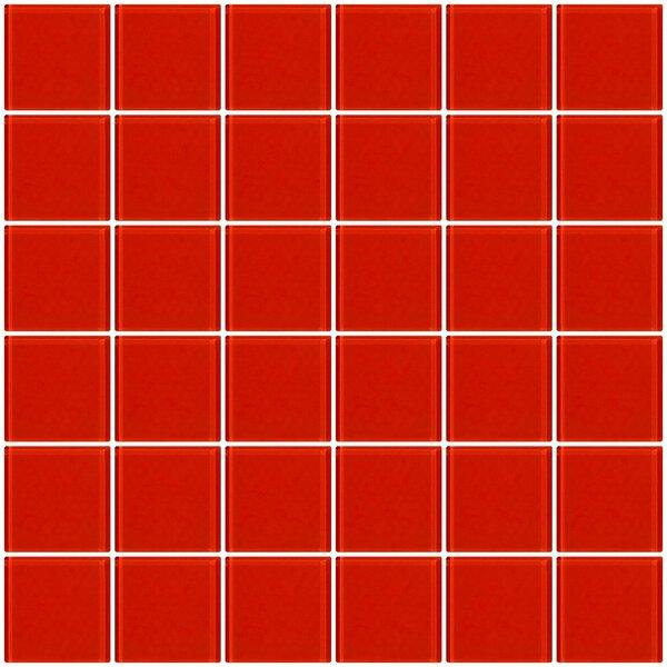 Bijou 22 2 x 2 Glass Mosaic Tile in Tomato Red by Susan Jablon