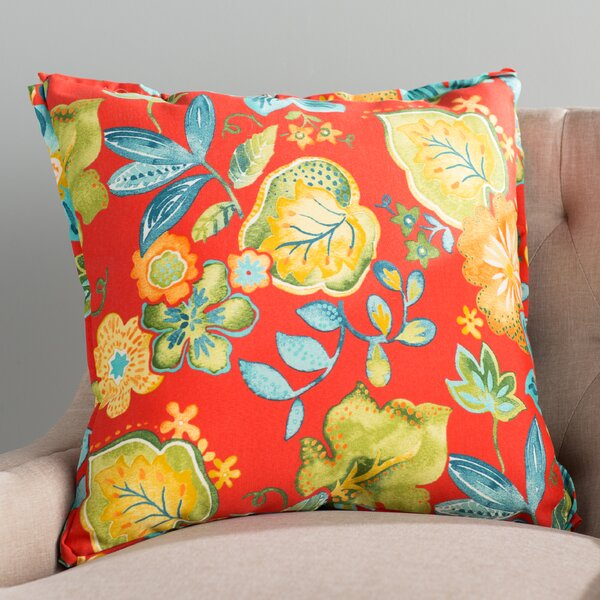 Hiawatha Beach Corded Floral Indoor/Outdoor Throw Pillow (Set of 2) by Bay Isle Home