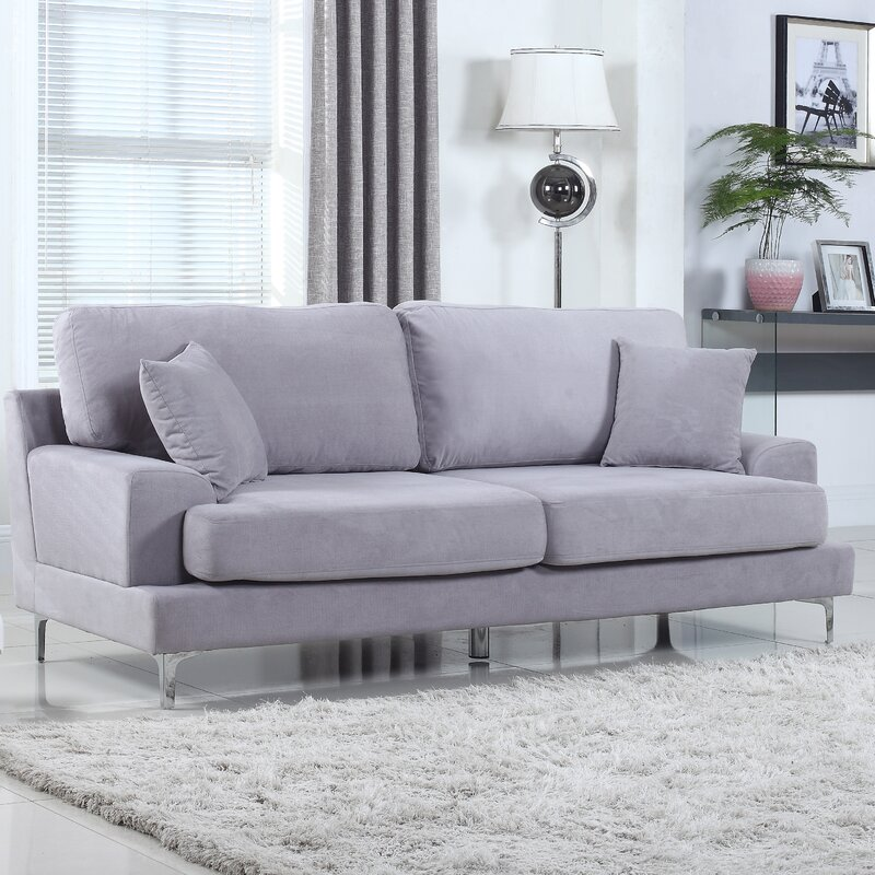 Ultra modern plush velvet living room sofa reviews for Ultra modern living room furniture