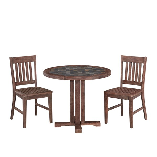 Lakewood 3 Piece Breakfast Nook Dining Set by Millwood Pines