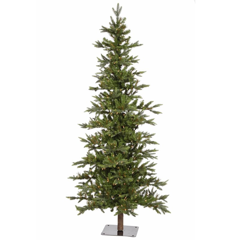 Vickerman Shawnee Fir 7' Green Alpine Artificial Christmas Tree ...