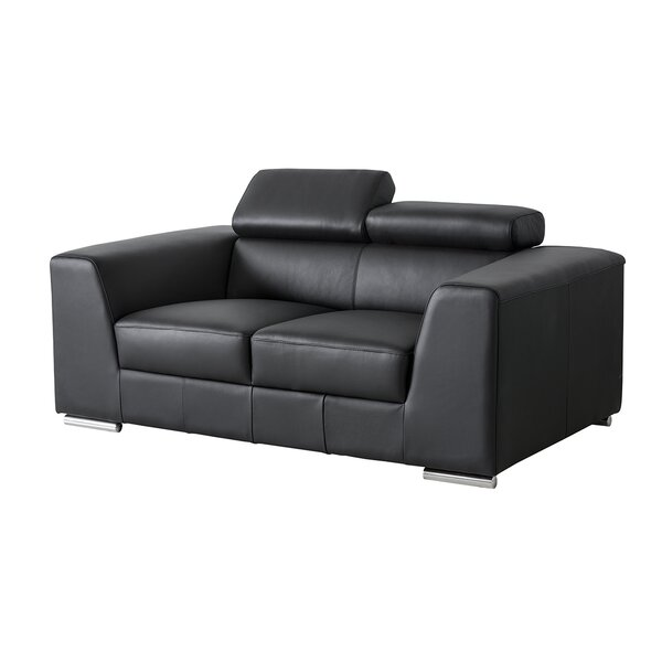 Review Cesca Leather Loveseat