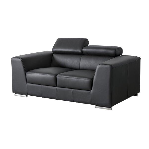 Discount Cesca Leather Loveseat
