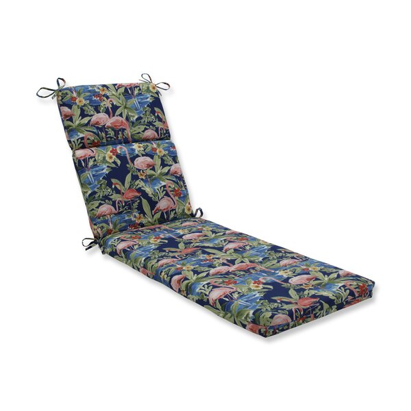 Flamingoing Lagoon Indoor/Outdoor Chaise Lounge Cushion by Bay Isle Home