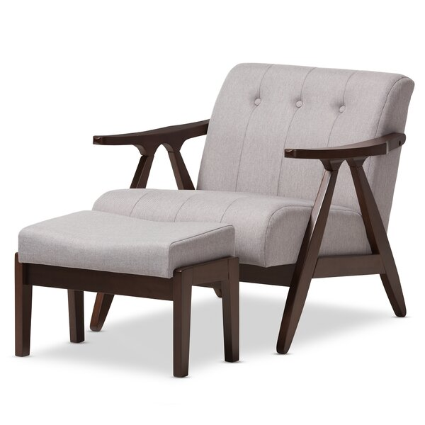 Enrico Lounge Chair and Ottoman by Wholesale Interiors