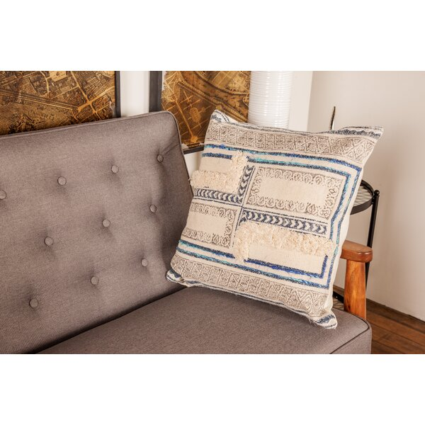 Goodyear Rustic Pillow Cover by Bungalow Rose
