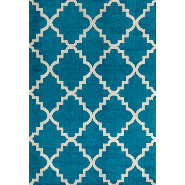 Freeman Blue Area Rug by Charlton Home
