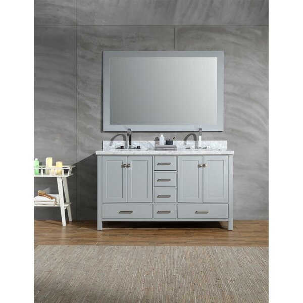 Harewood 61 Double Bathroom Vanity Set with Mirror by Andover Mills
