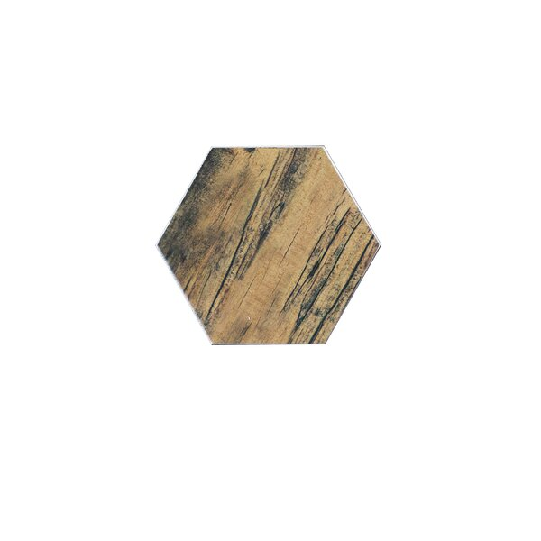 Artisan Wood Hexagon 8 x 8 Ceramic Wood Look Tile in Brown by Abolos