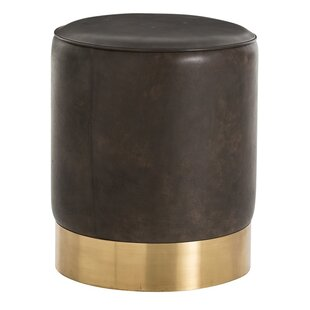 Pratt Leather Ottoman  by ARTERIORS Home