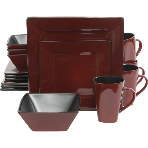 Jove 16 Piece Dinnerware Set, Service for 4 by Wro