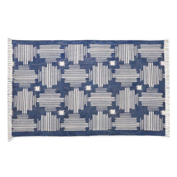 Moravian Blue/Beige Area Rug by Brayden Studio