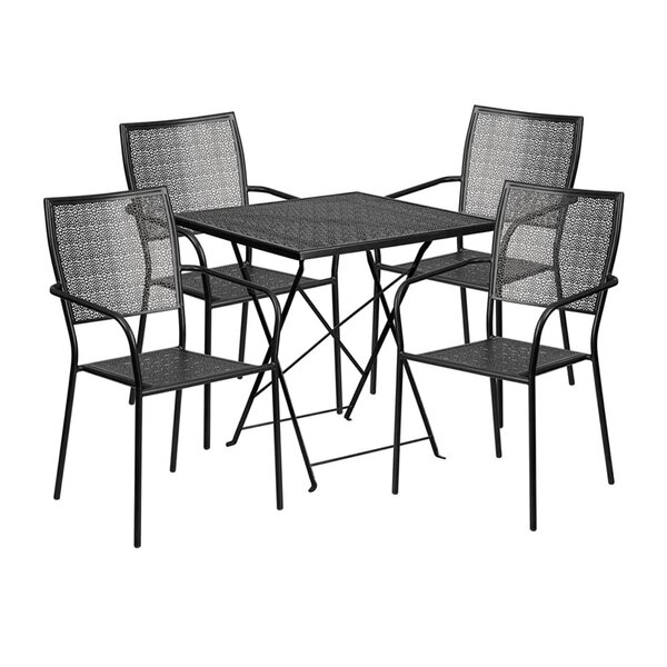 Speedwell Outdoor Steel 5 Piece Dining Set by Winston Porter