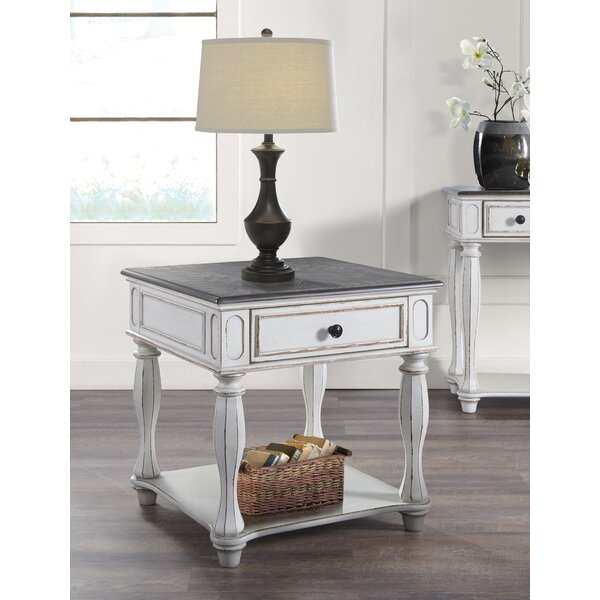 Mossley End Table With Storage By Canora Grey