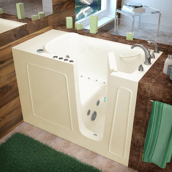 Santa Fe 53 x 26 Walk-In Air and Whirlpool Jetted Bathtub by Therapeutic Tubs