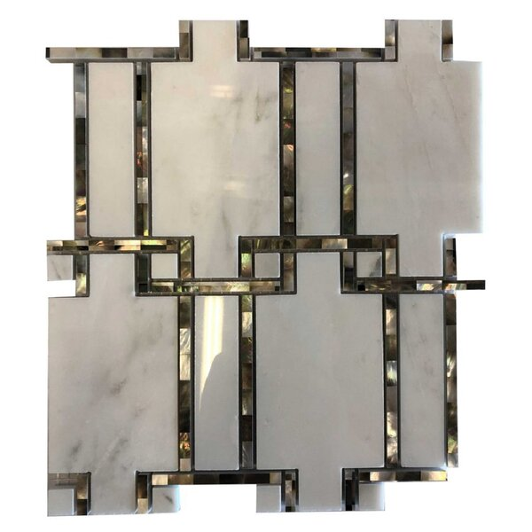 Marion Pearl 10 x 11 Natural Stone and Seashell Mosaic Tile