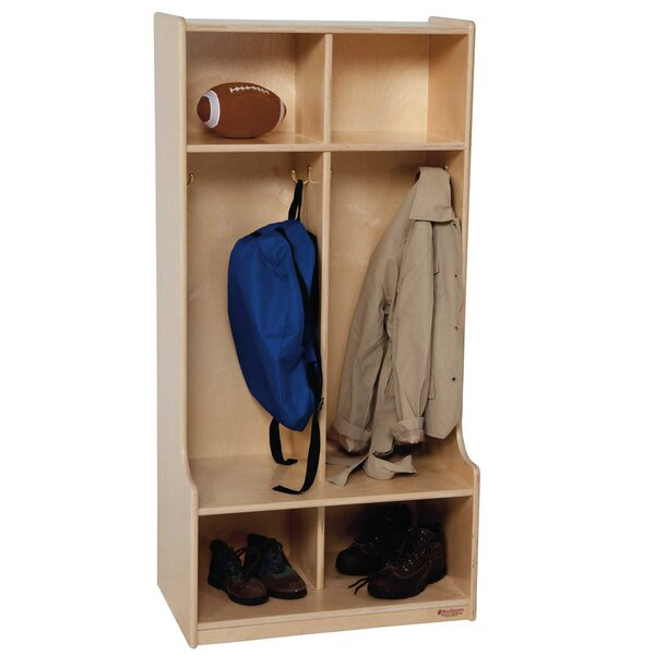 Contender 3 Tier 2 Wide Coat Locker by Wood Designs