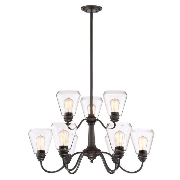 Coldiron 9-Light Shaded Tiered Chandelier By Williston Forge