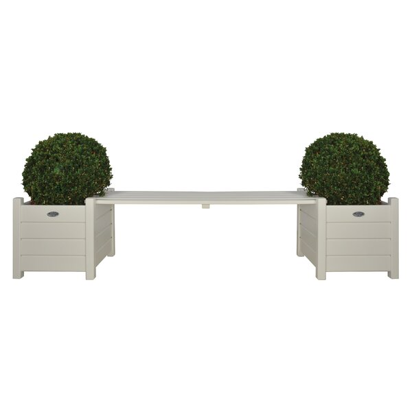 Square Wood Planter Bench by EsschertDesign