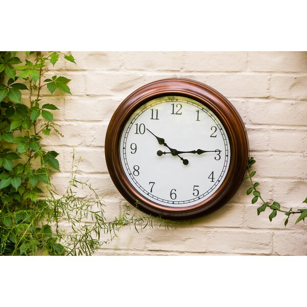 Wymondham Outdoor 18 Wall Clock by Darby Home Co