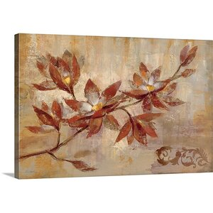 'Copper Branch' by Silvia Vassileva Painting Print on Canvas by Great Big Canvas