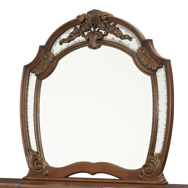 Oppulente Crowned Top Dresser Mirror by Michael Amini