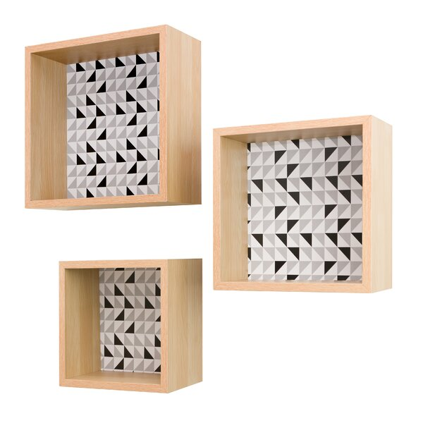 Mayna Cube 3 Piece Wall Shelf Set by Wrought Studio