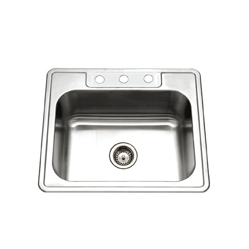glowtone 25   x 22   topmount single bowl 18 gauge kitchen sink houzer glowtone 25   x 22   topmount single bowl 18 gauge kitchen      rh   wayfair com